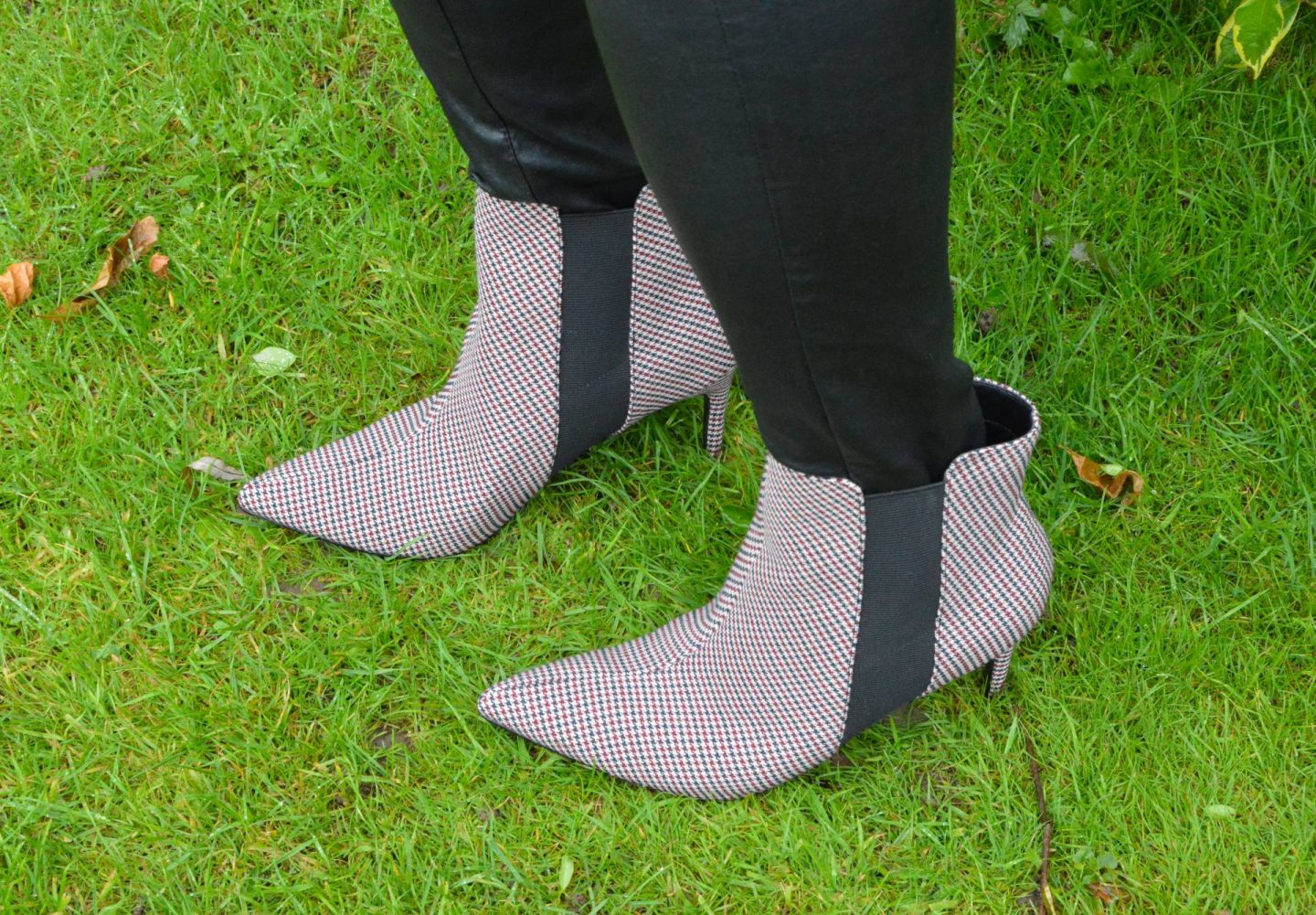 River Island check ankle boots