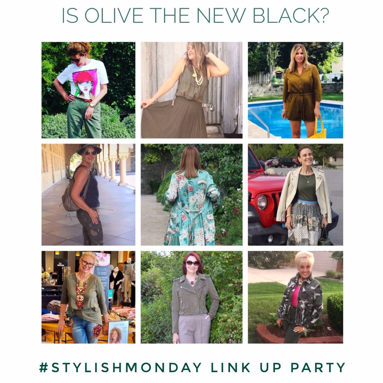 Is Olive the New Black? + Stylish Monday link up