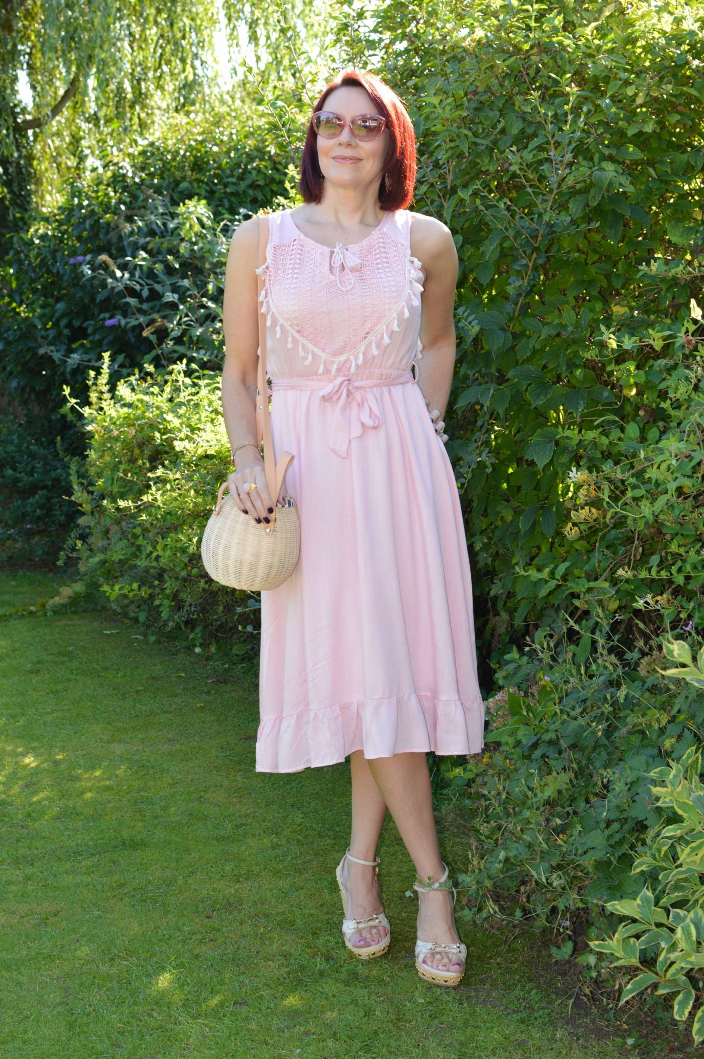 Blush Pink Cotton Sundress