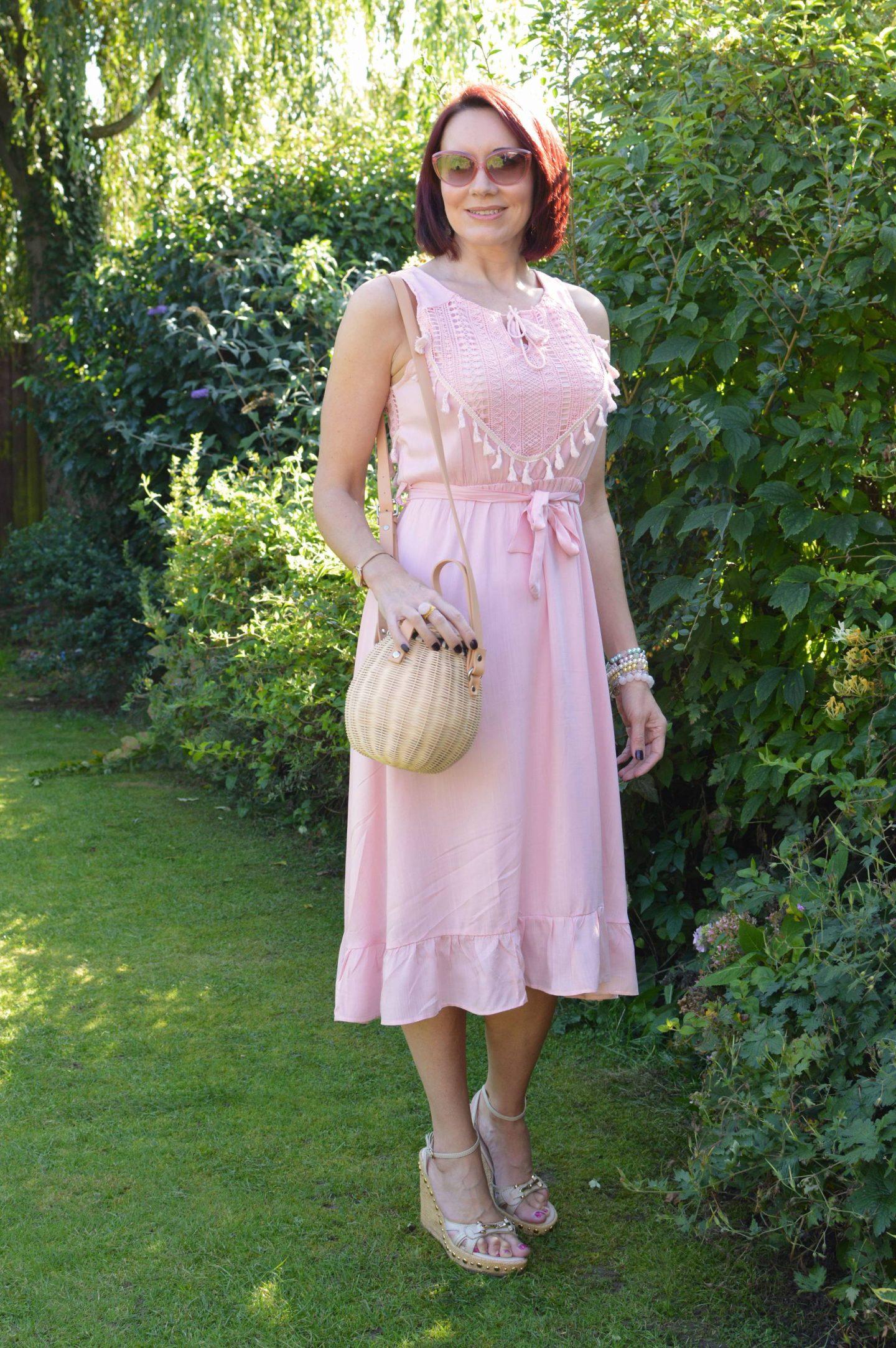 Blush Pink Cotton Sundress