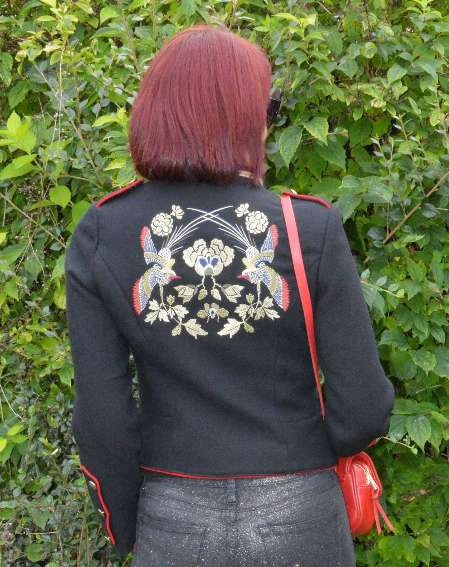 Zara embroidered military jacket