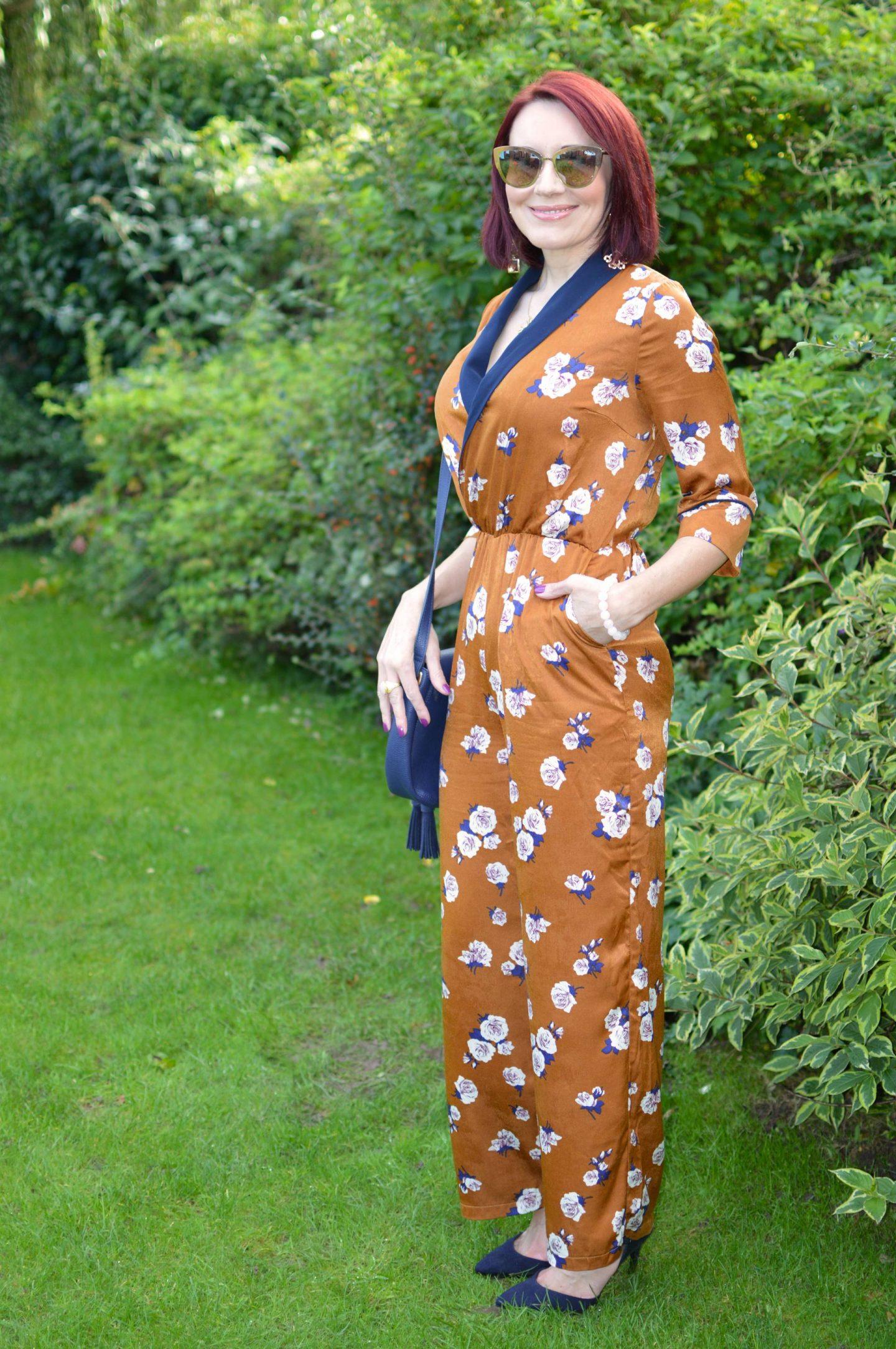 Paisie floral print jumpsuit