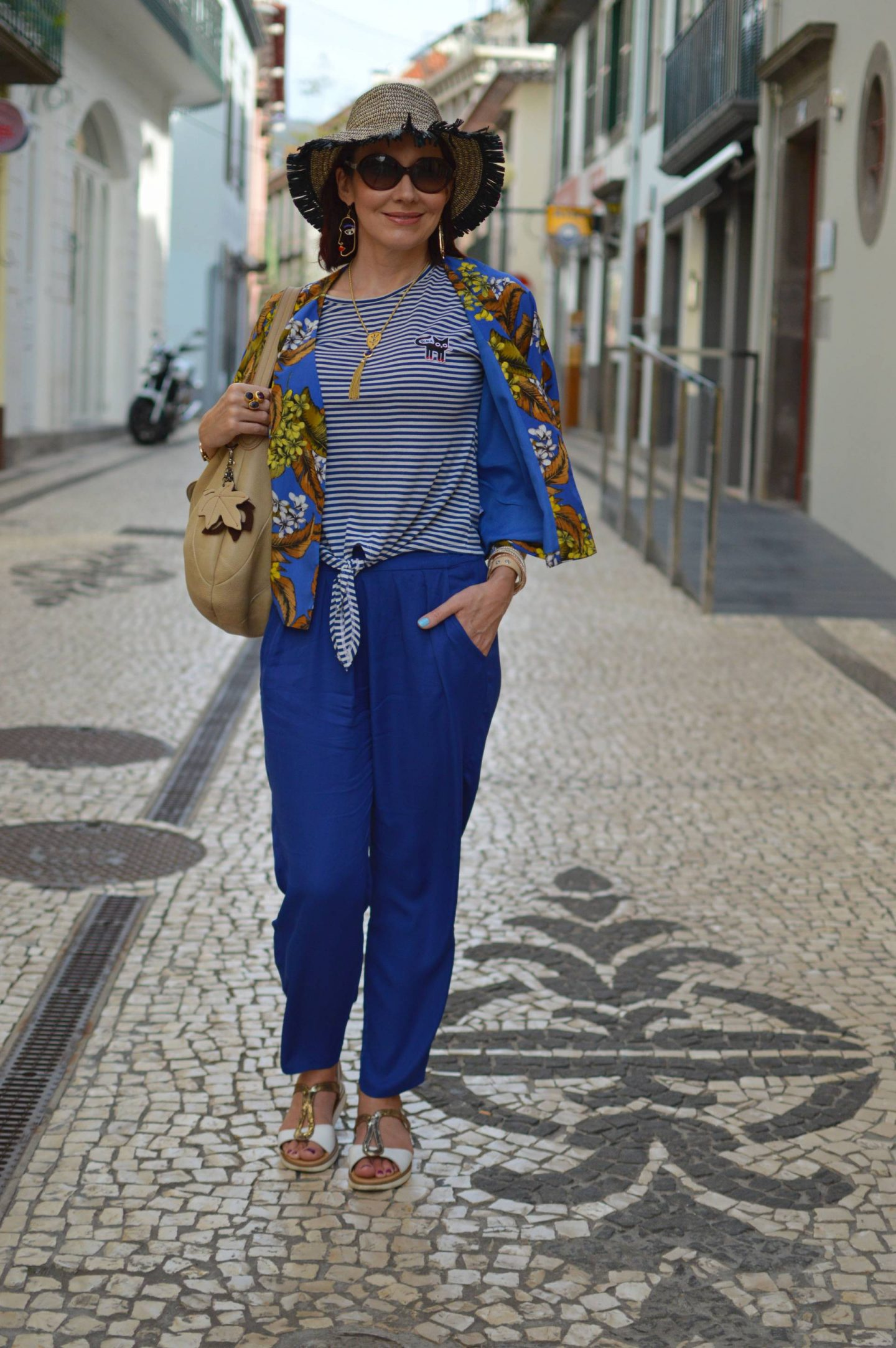 Stripes and Floral Print - Exploring Madeira