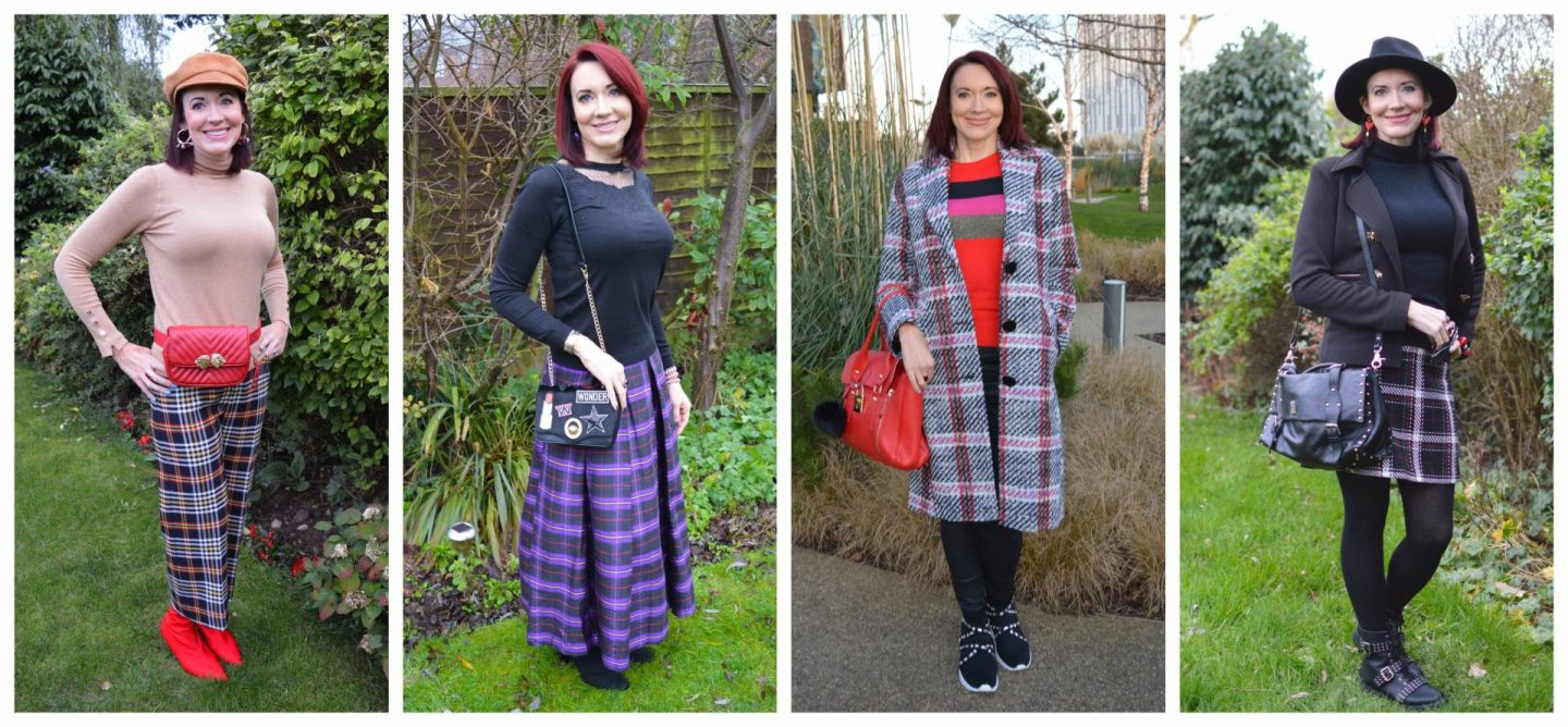 plaid outfits collage