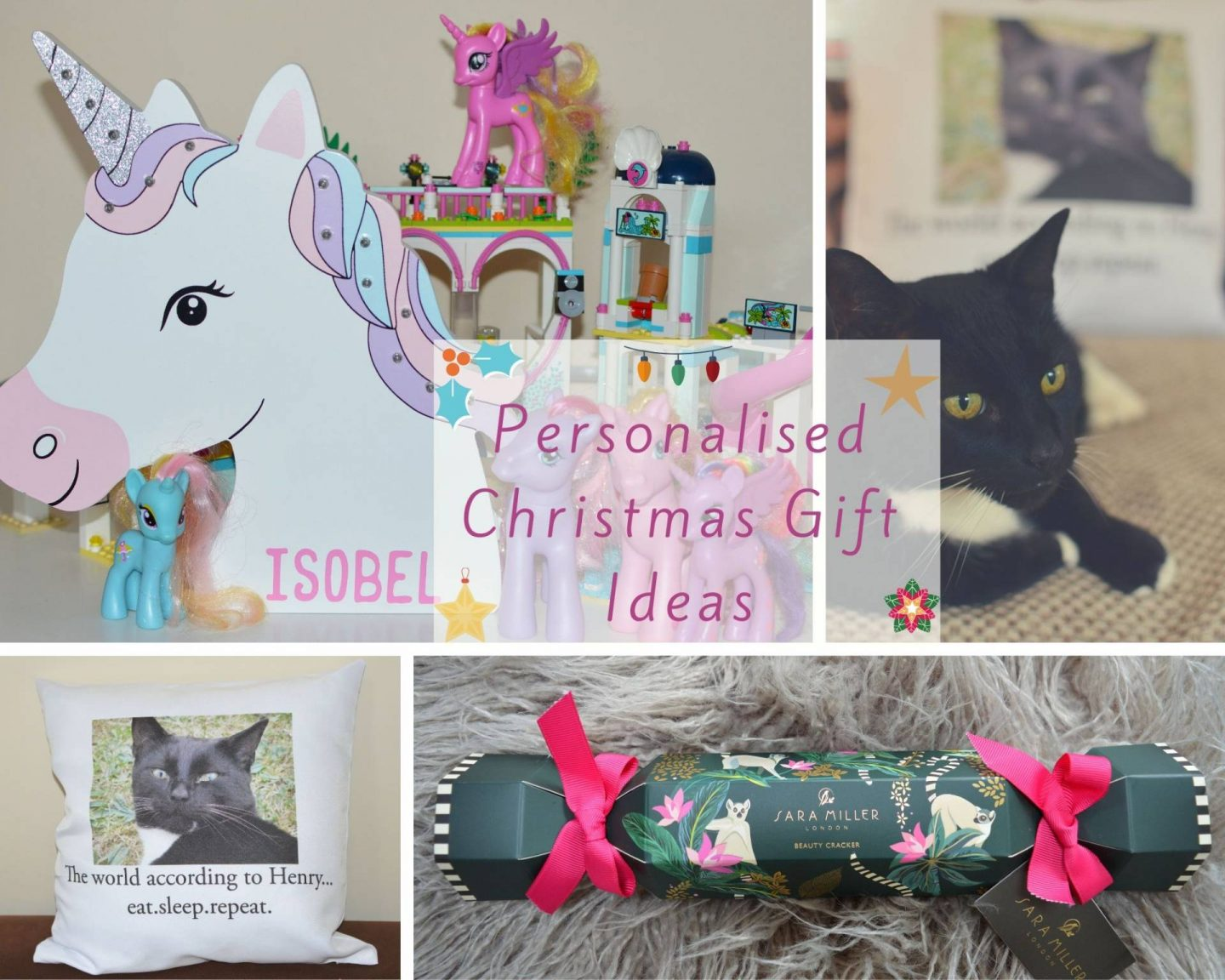 Personalised Christmas gift ideas collage