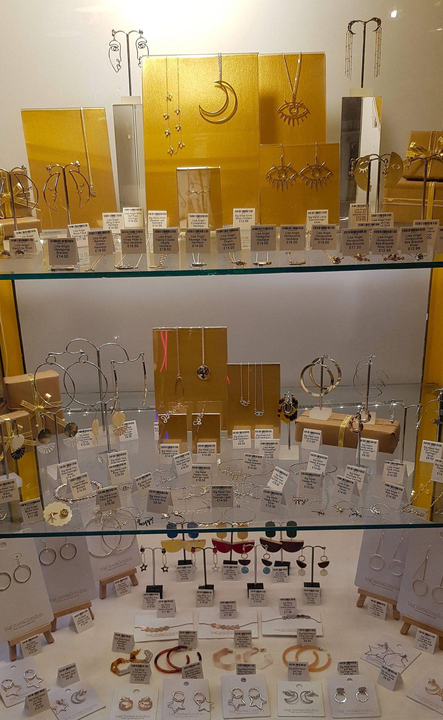 Oklahoma, Manchester, jewellery display