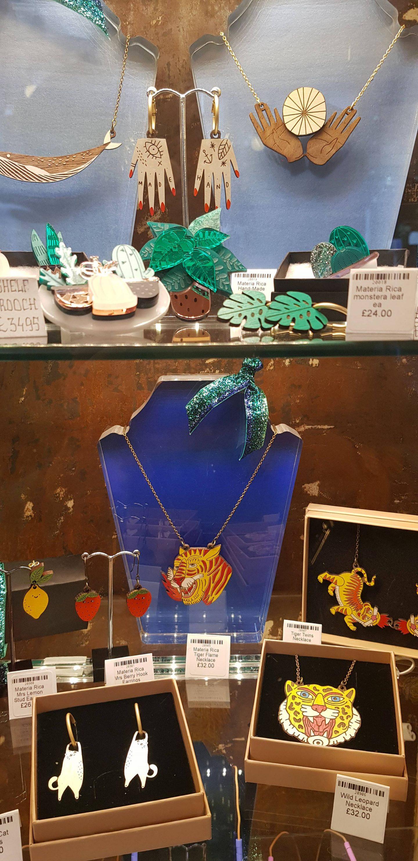 Oklahoma, Manchester, jewellery display, Materia Rica