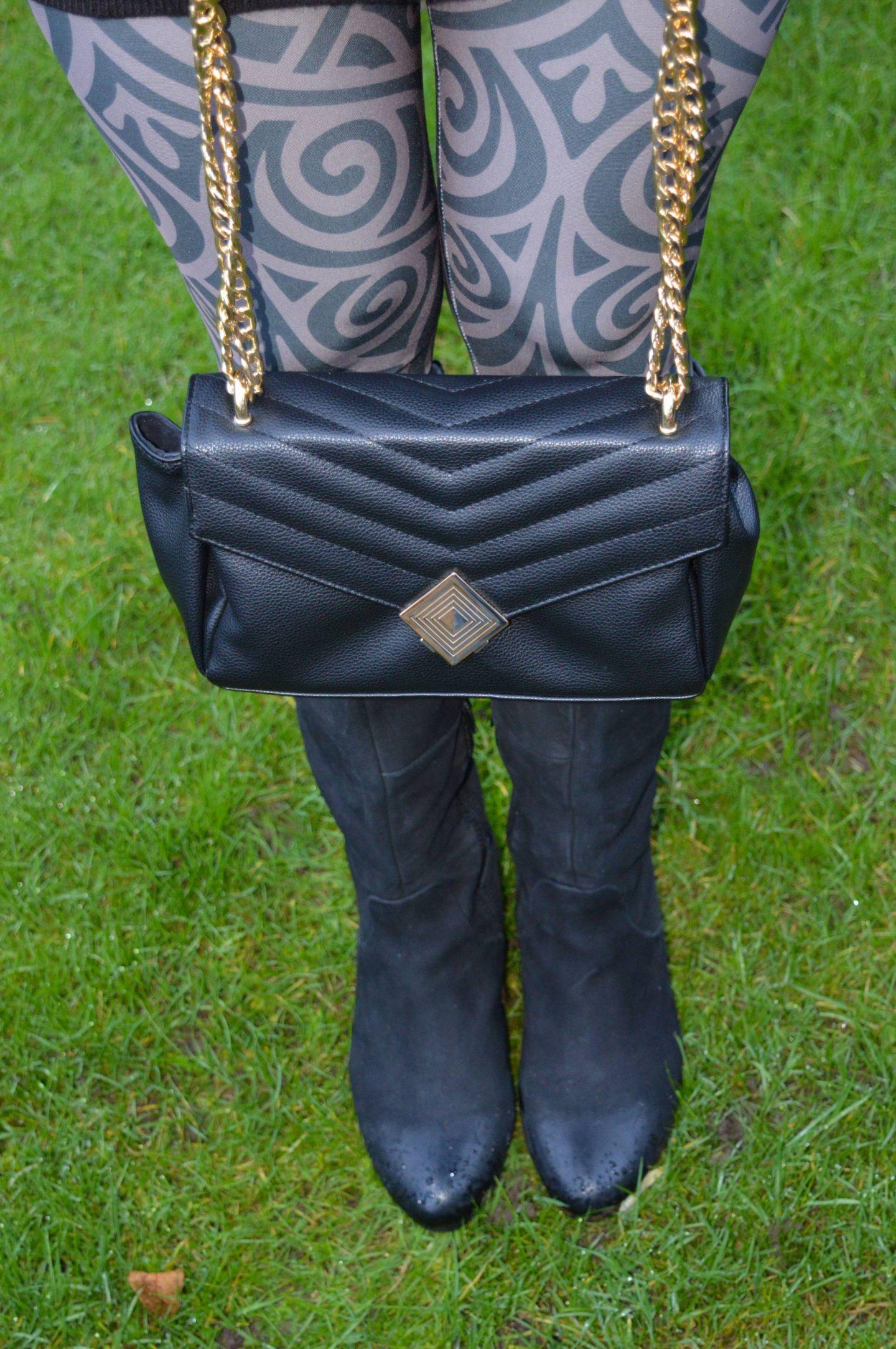 Jennifer Hamley vegan leather chain handle bag