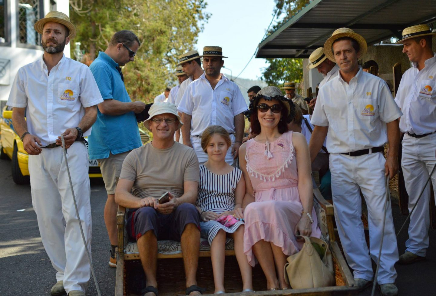 cable cars and toboggans, sightseeing in Madeira, wicker toboggans, Monte