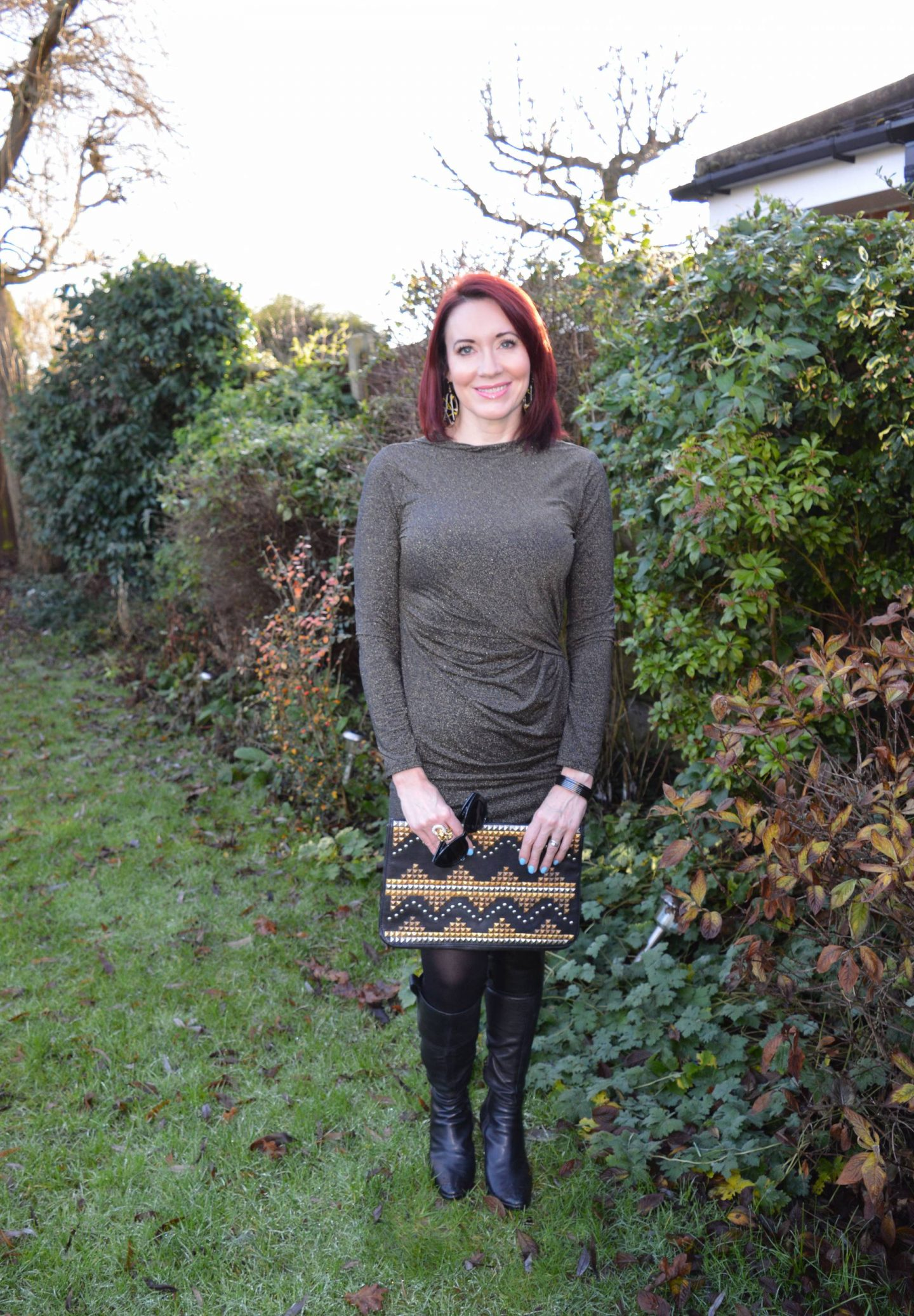 December Party Outfit Ideas, lurex dress
