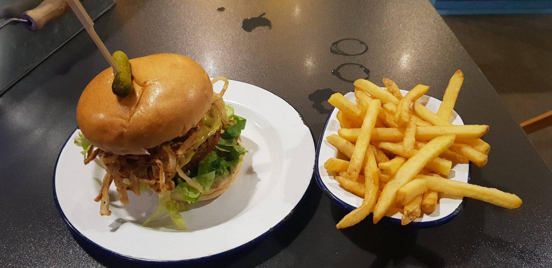 V-Rev vegan diner burger