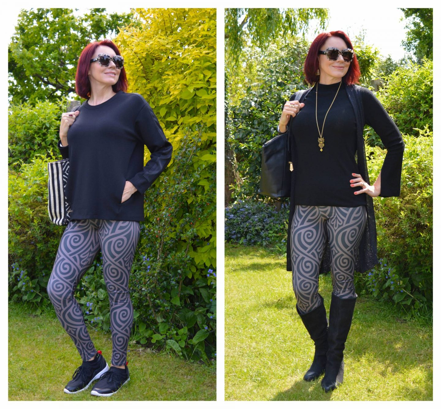 Lovely in Leggings - November Stylish Monday link up, two ways to wear Meadowlark leggings