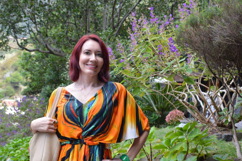 Tropical Print Batwing Dress, São Vicente Madeira