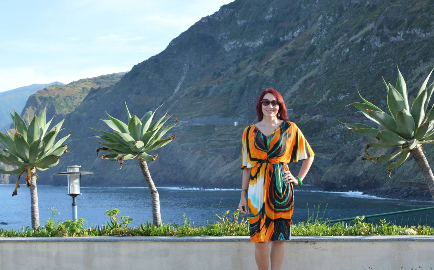 Tropical Print Batwing Dress, Porto Moniz Madeira