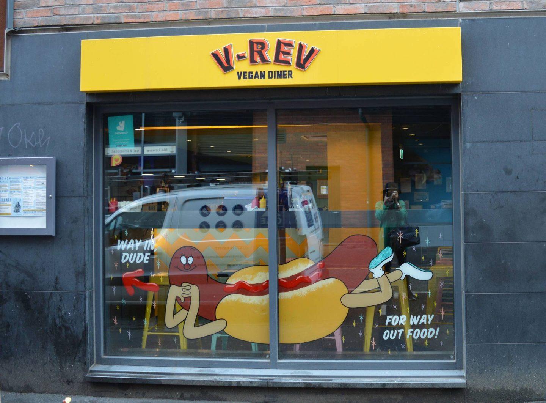 Exploring Manchester's Northern Quarter, V-Rev vegan diner