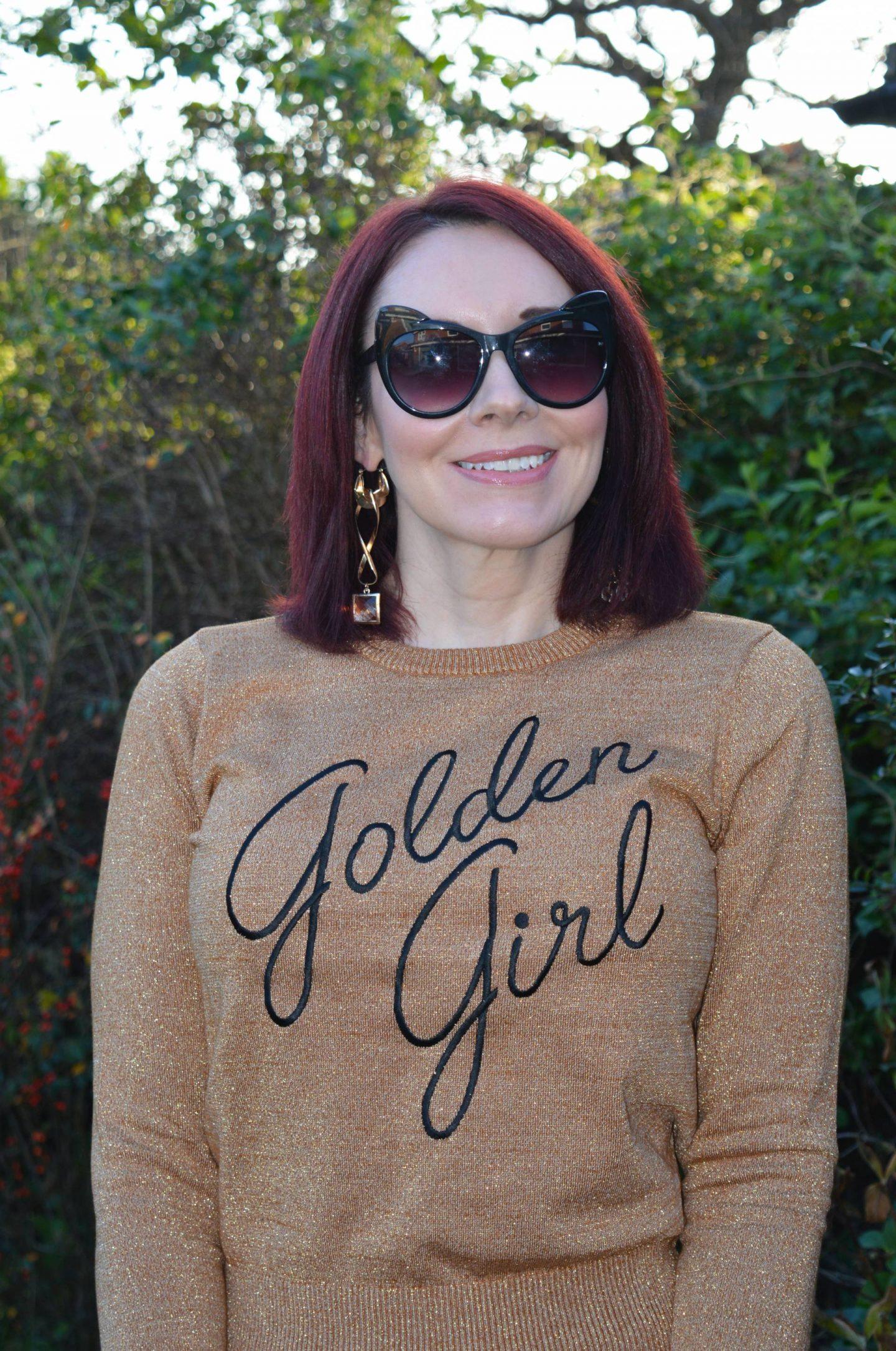 Joanie Golden Girl Lurex Jumper