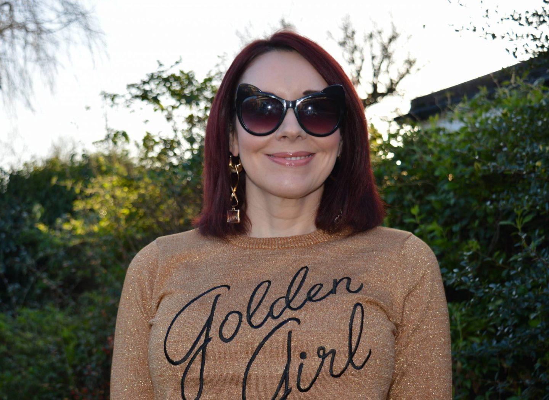Golden Girl Lurex Jumper