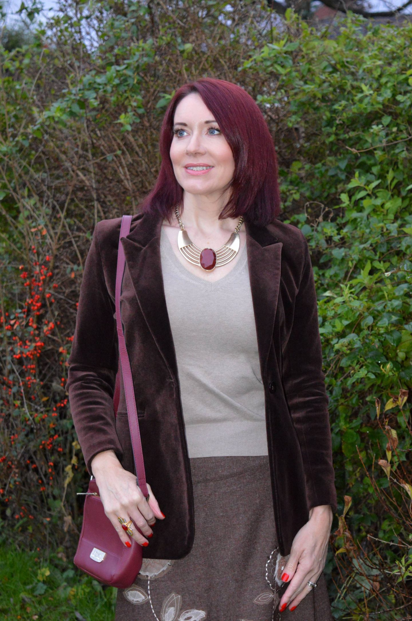 brown velvet jacket
