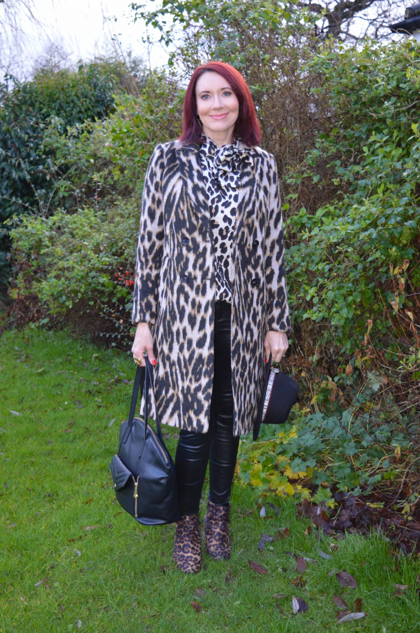 Leopard Print and Faux Leather, Jennifer Hamley vegan leather bag