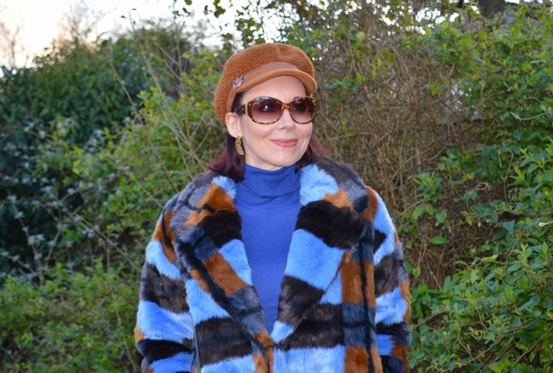 New Year Cozy Chic, Asos faux fur coat, hat