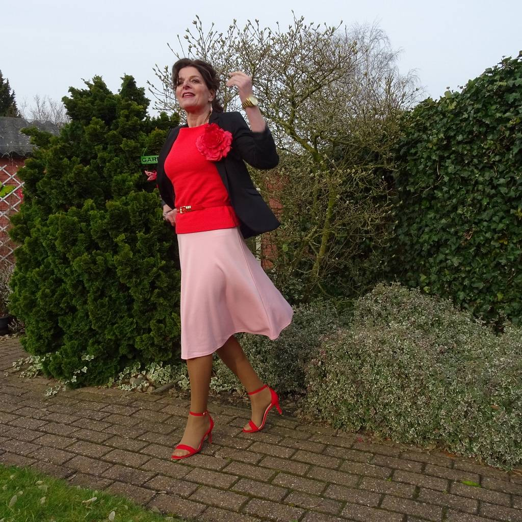 Red for Valentine's Day Stylish Monday link up, Nancy Baten