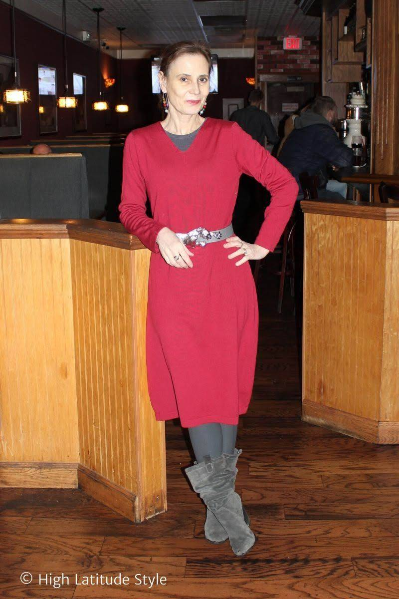 Red for Valentine's Day Stylish Monday link up, Nicole Molders