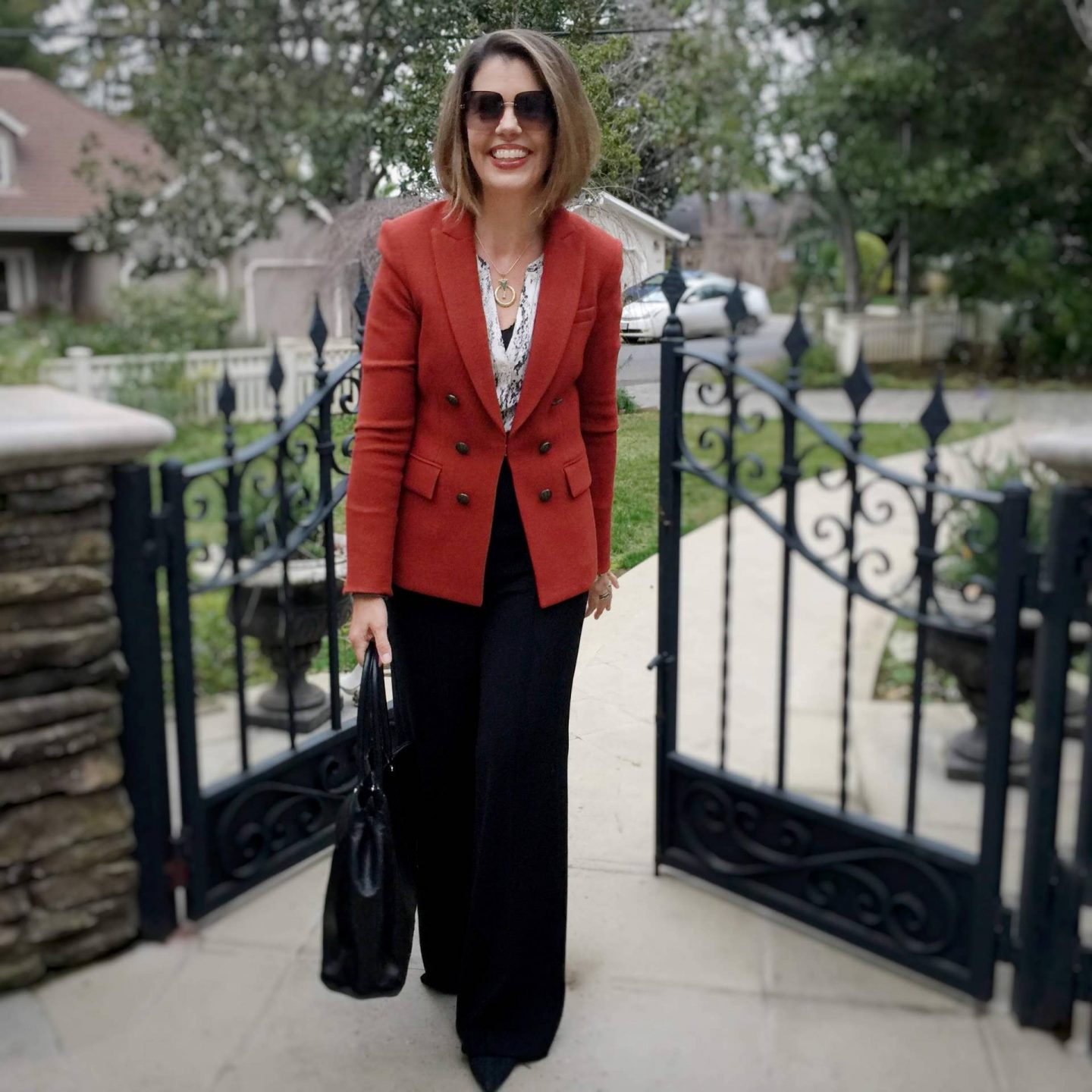 Red for Valentine's Day Stylish Monday link up, Suzanne Bell