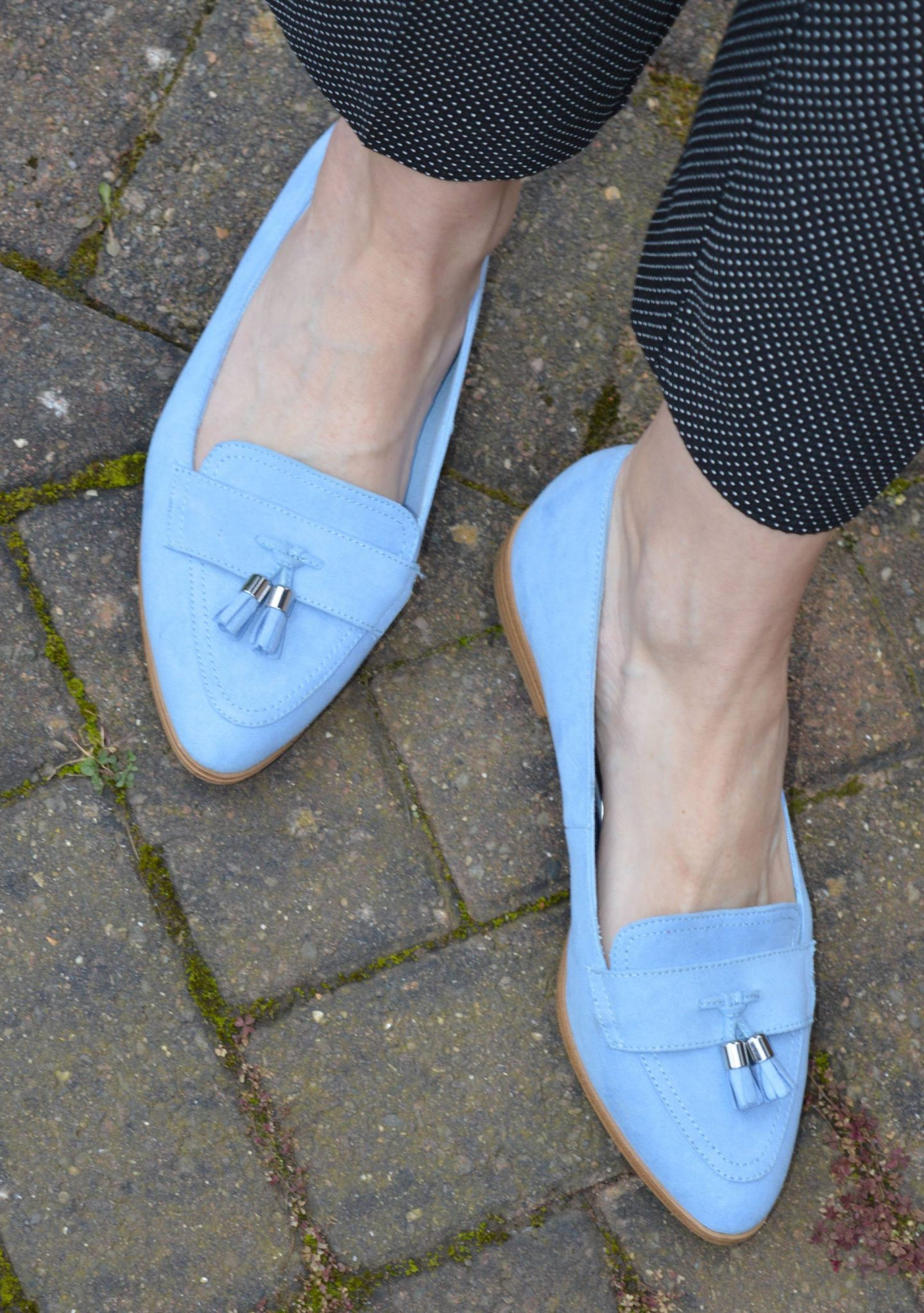 Marks and Spencer pale blue loafers