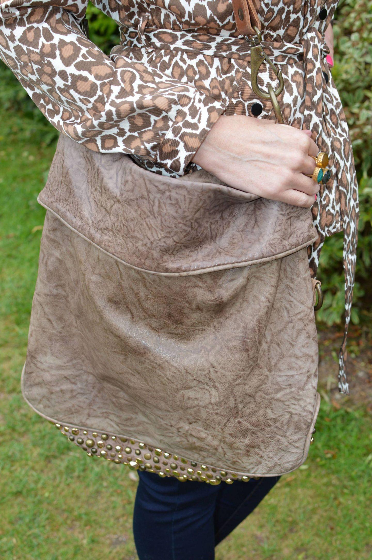 Sara Berman brown studded bag