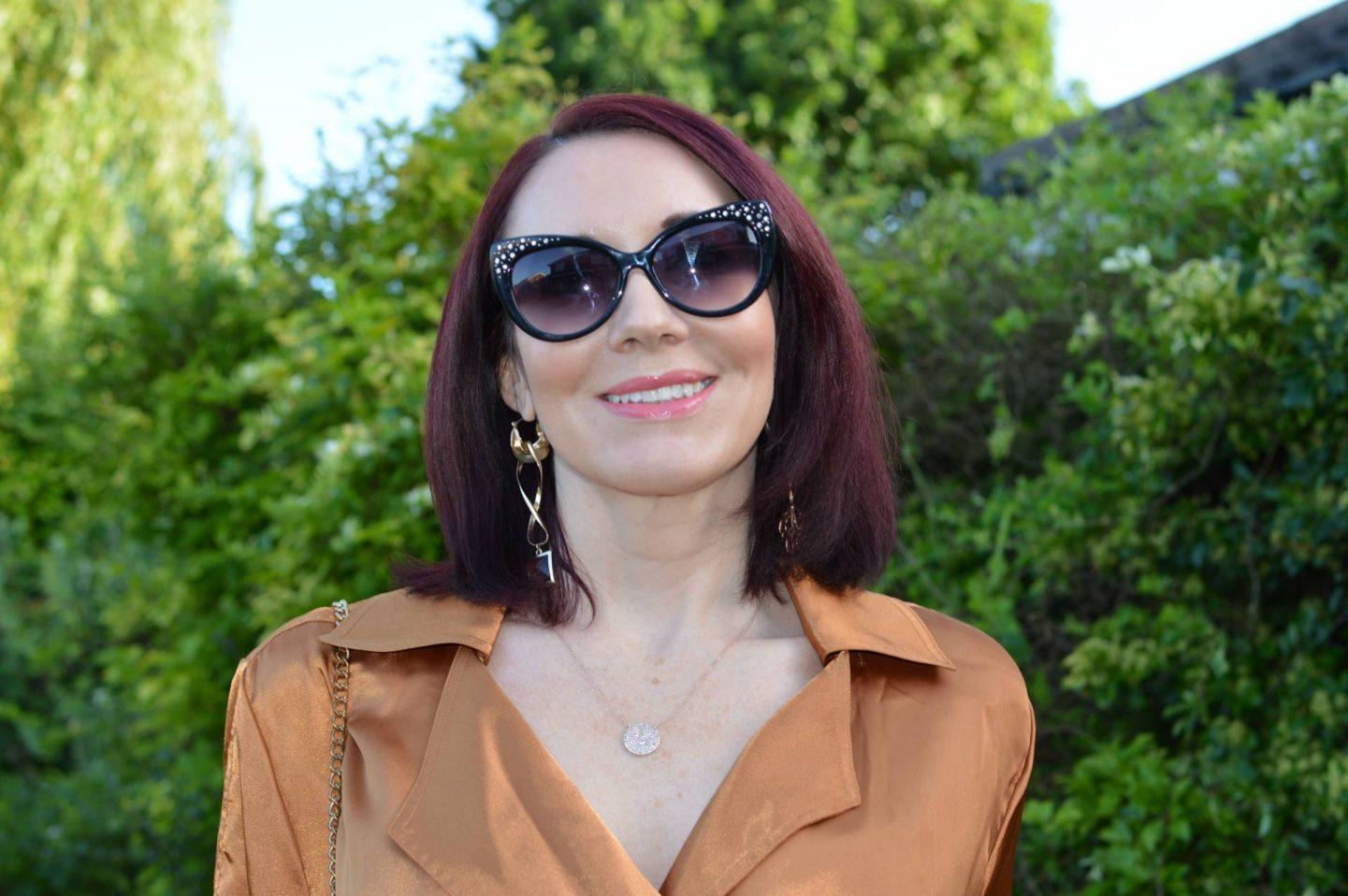 Sam Edelman diamante cat eye sunglasses