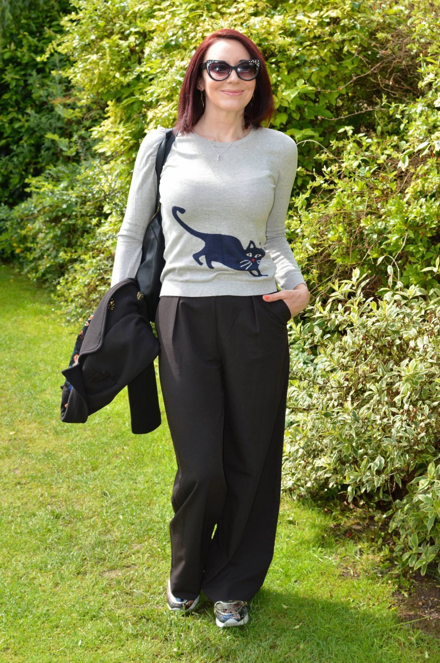 A Cat-Themed Outfit, Arabella and Addison cat jumper