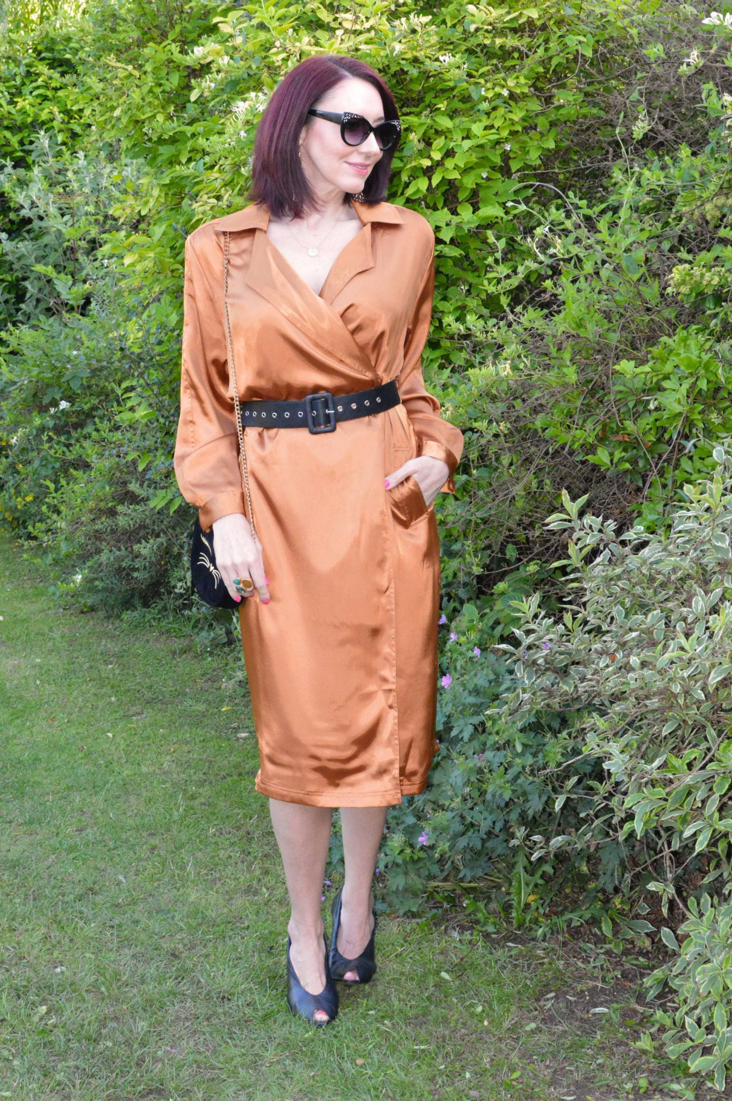 "We're Allowed ""Out Out"" - June's Match Made in Seven, Kitri satin wrap dress"