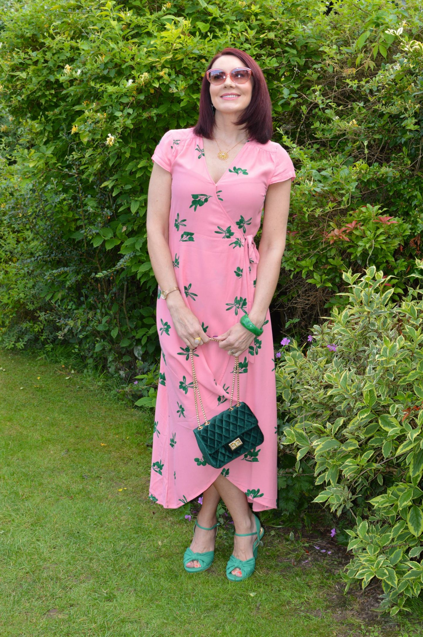 Fabienne Chapot Archana Pink Wrap Dress
