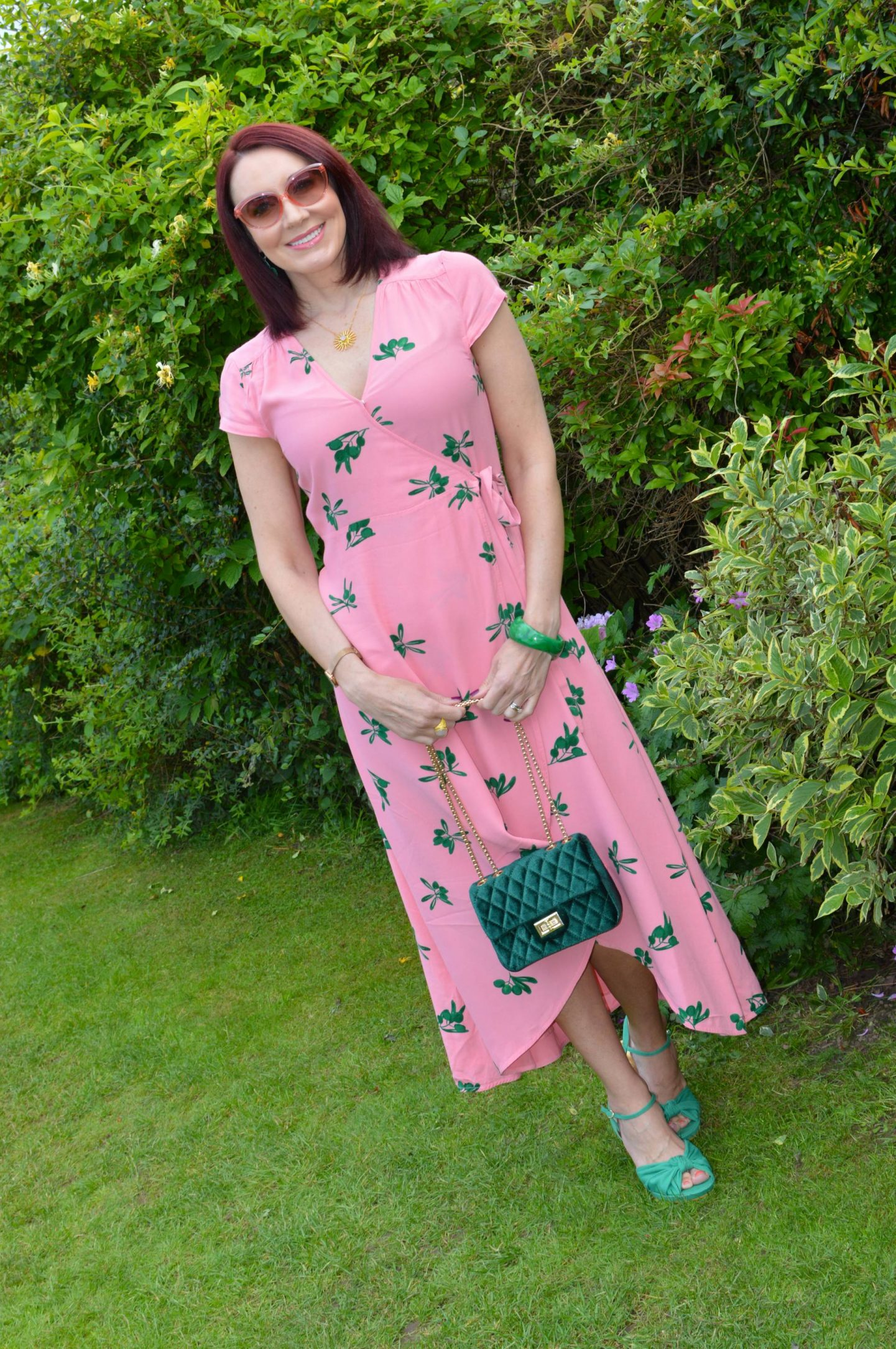 Fabienne Chapot Pink Wrap Dress