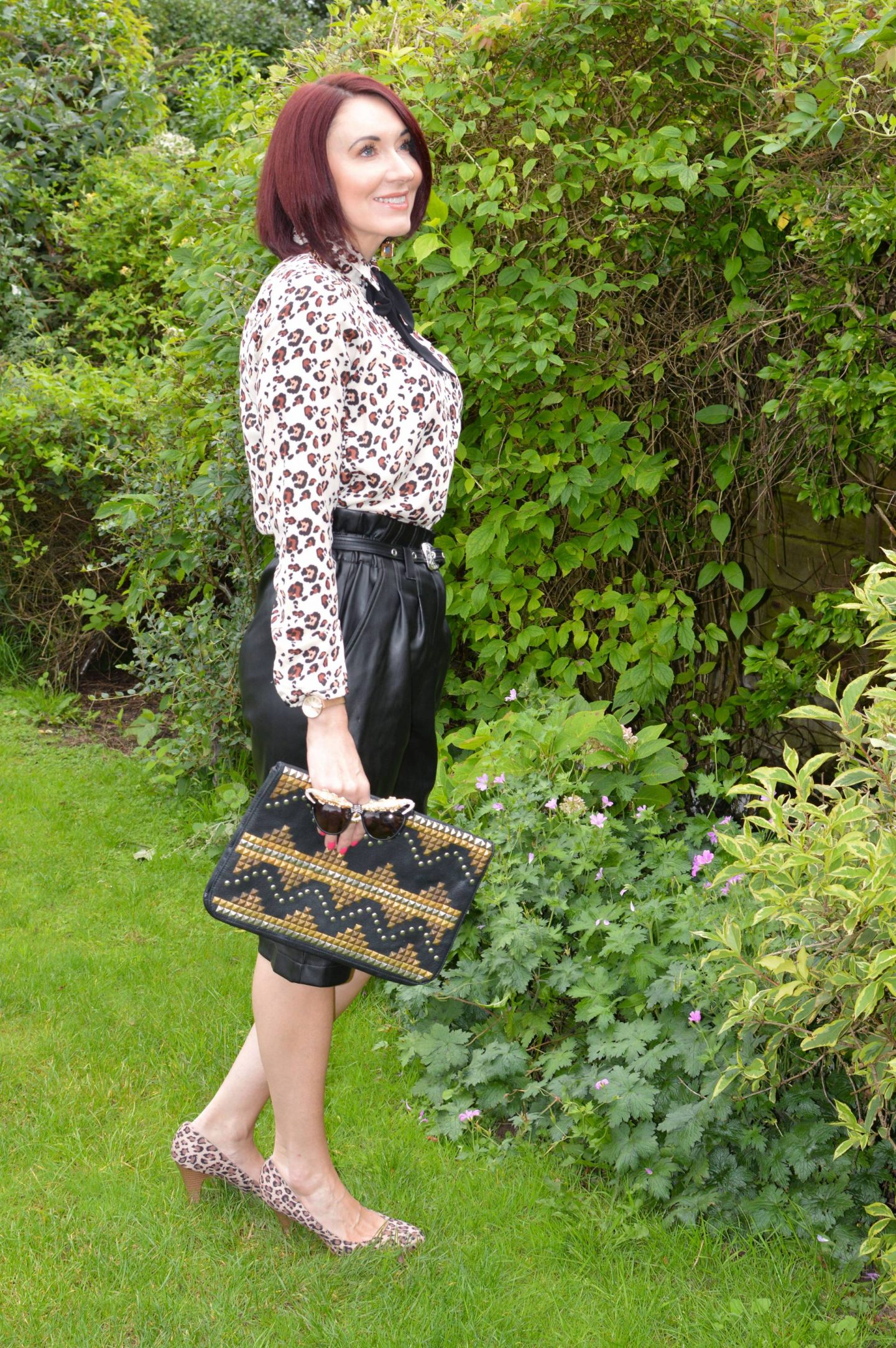 What I'd Wear on the Frow - August's Style Not Age, River Island faux leather culottes
