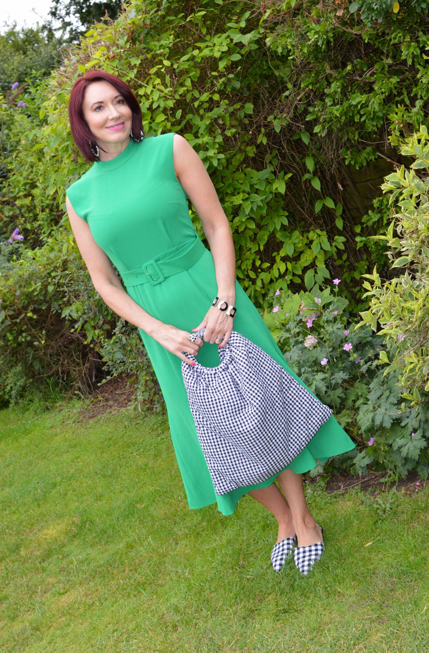 Emerald Green and Gingham + Style With a Smile Link Up