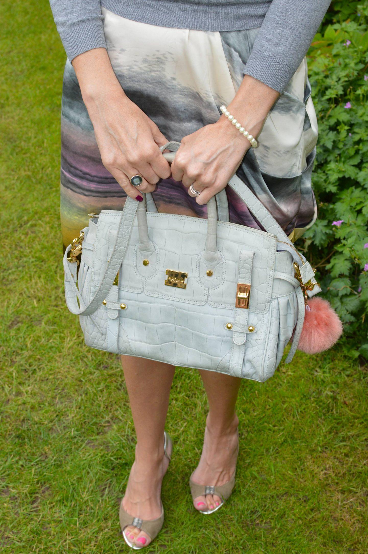 Snob London tie dye skirt, Modalu grey satchel