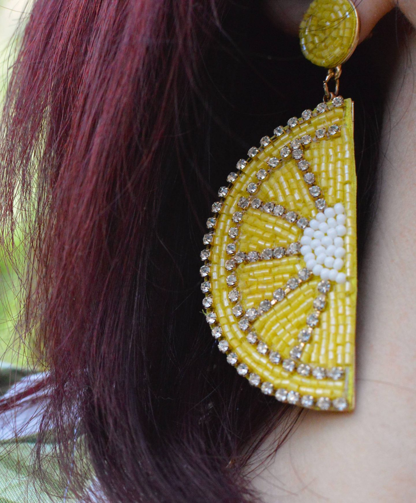 H&M lemon earrings