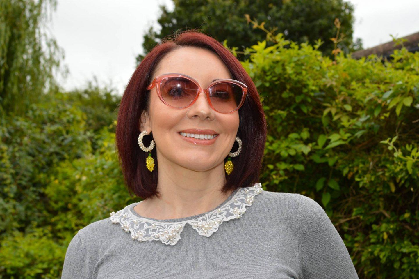 Zara beaded lemon earrings