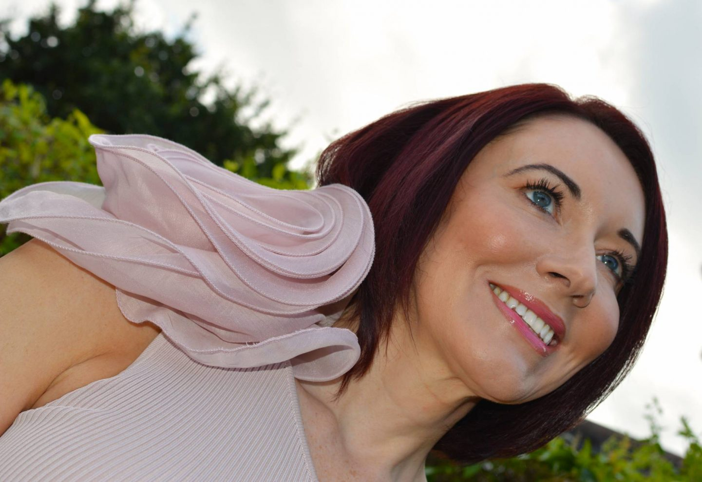 Zara Pink One Shoulder Corsage Top