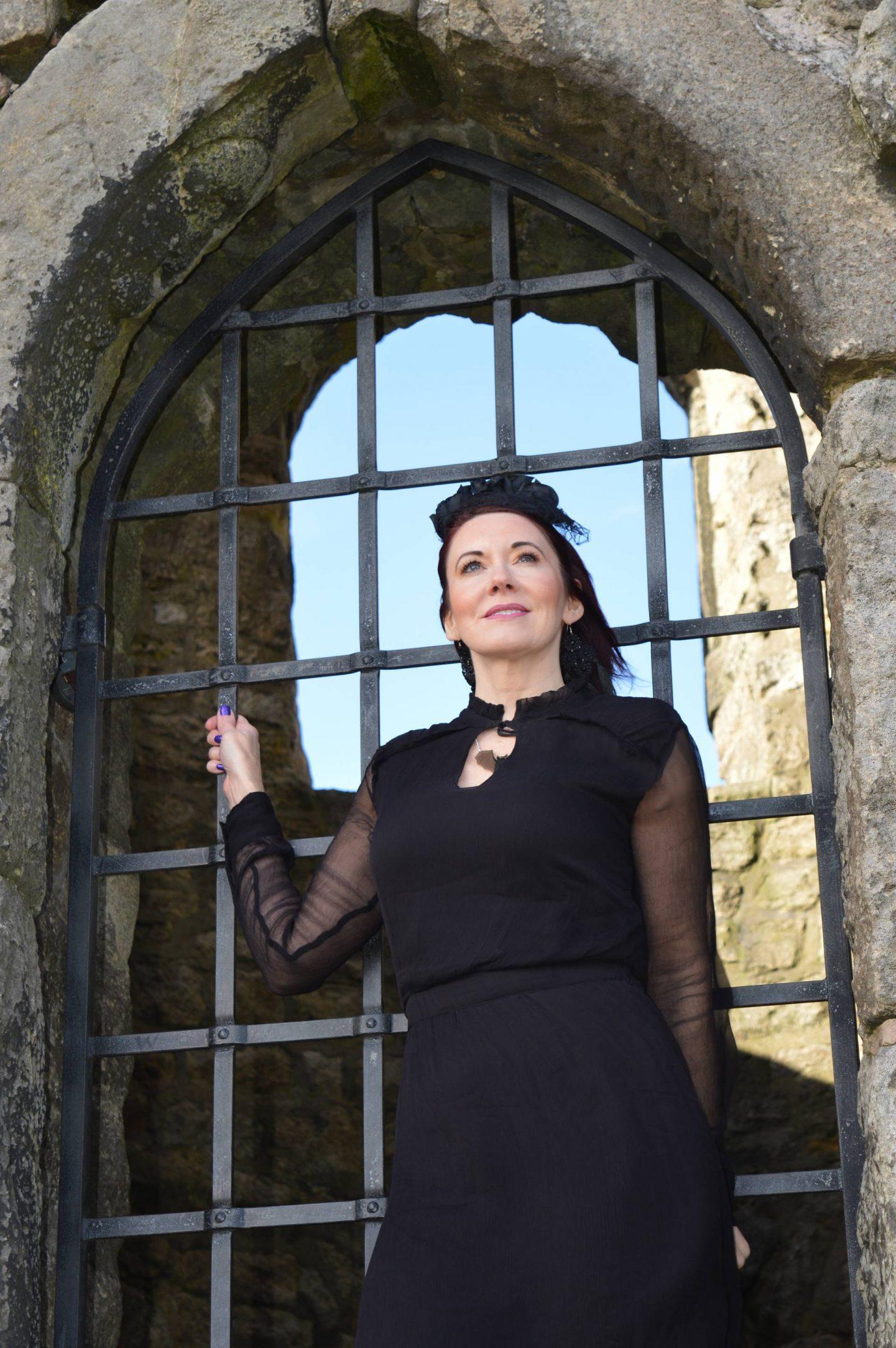 Gothic Romance Style Not Age, Second Female black maxi dress, Asos black lace headband