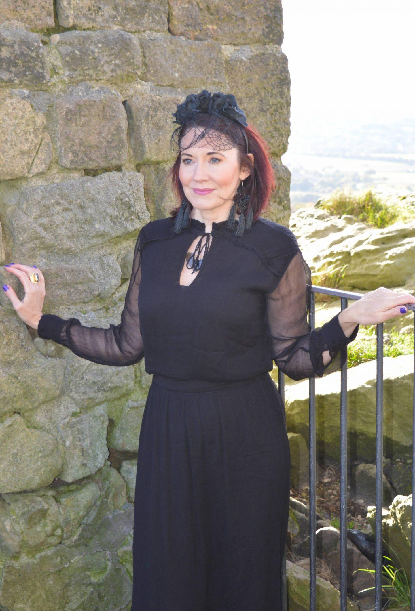 Gothic Romance Style Not Age, Second Female black maxi dress