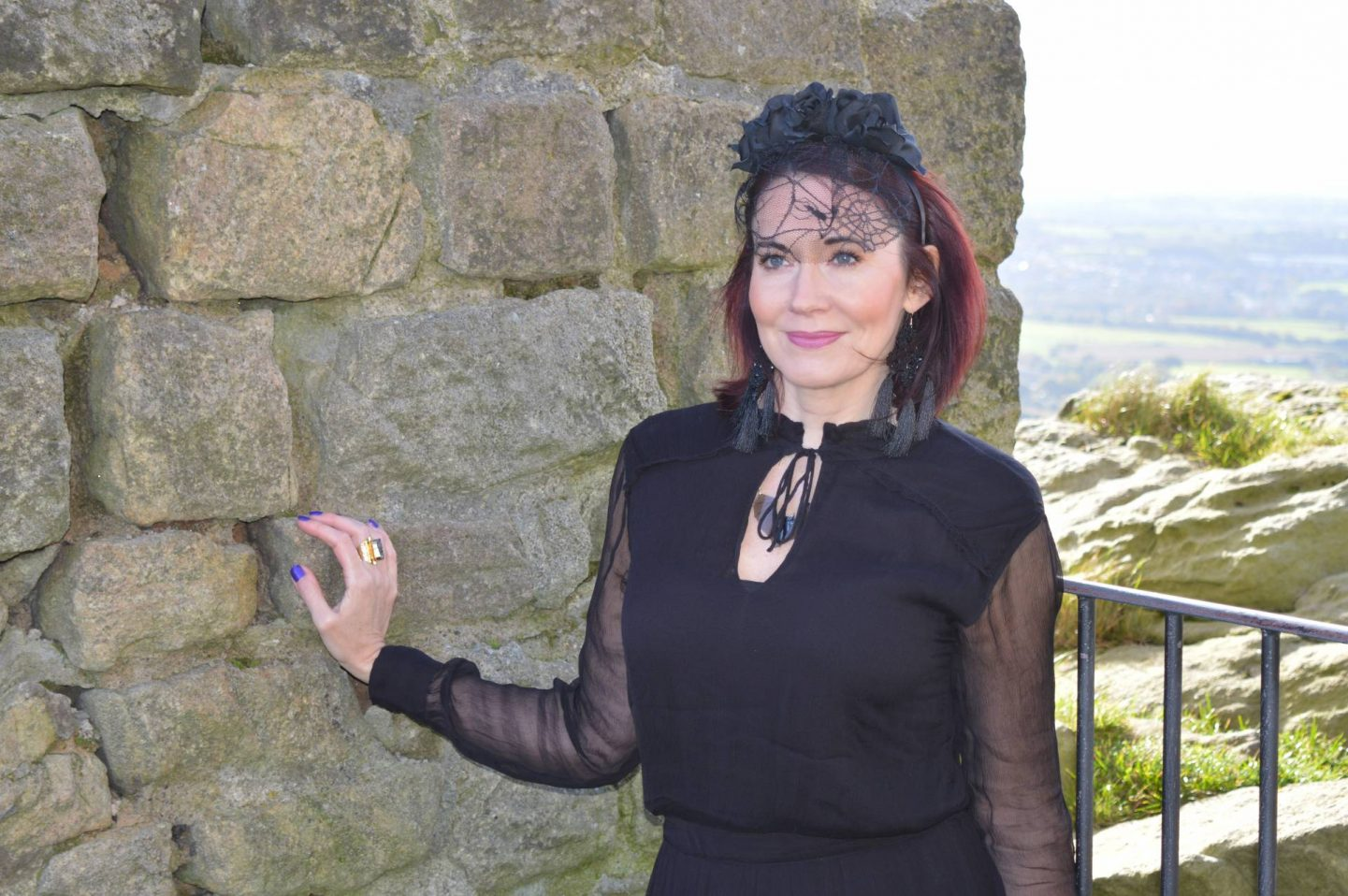 Gothic Romance Style Not Age, Second Female black maxi dress, Asos black lace headband
