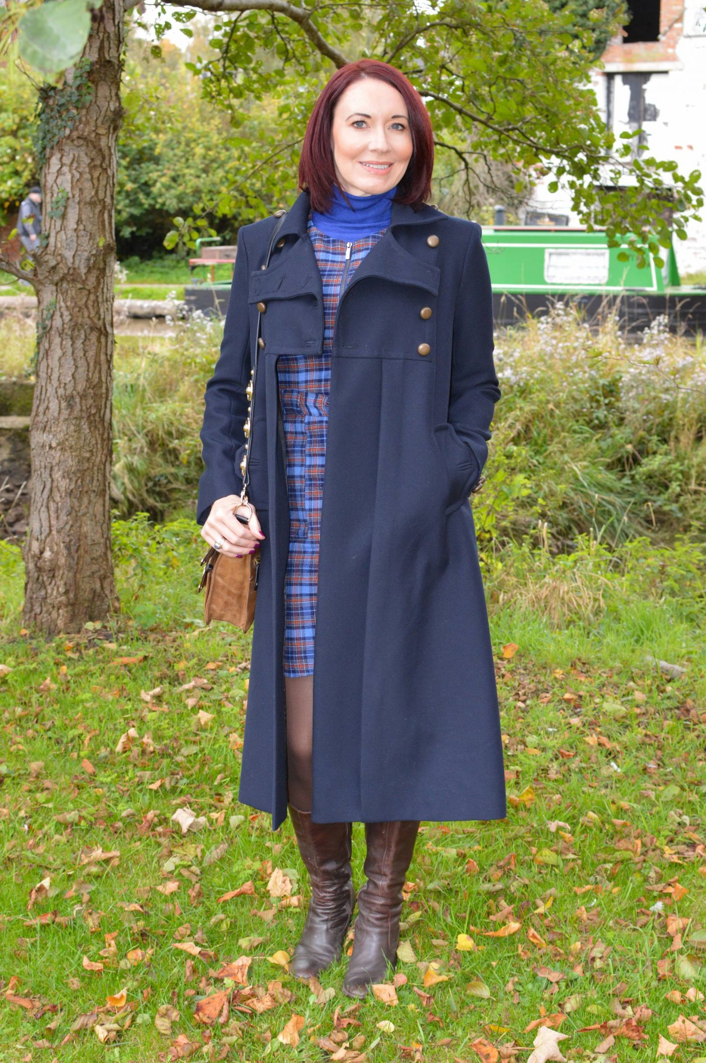 French Connection navy military coat