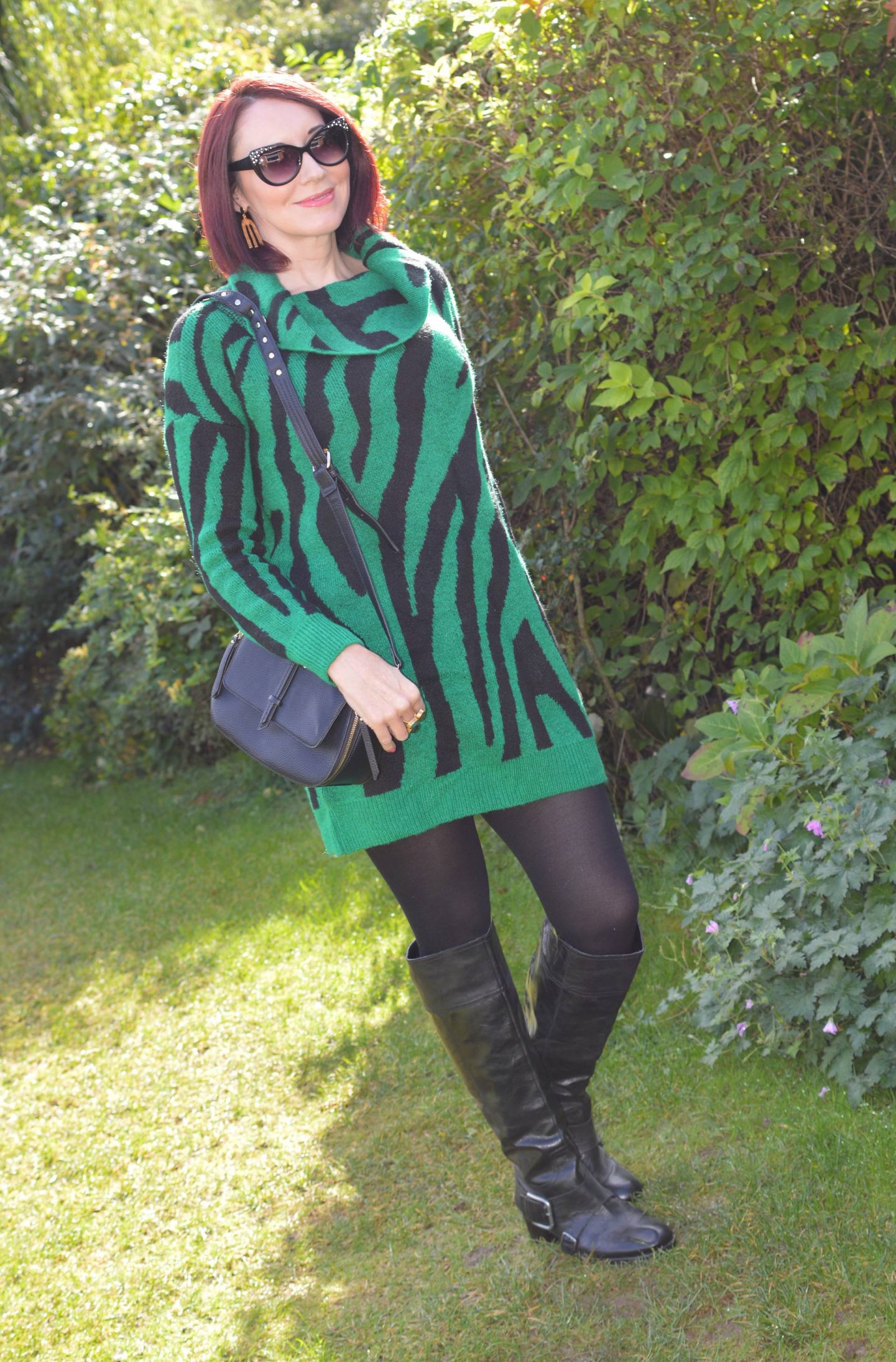 The Stylish Monday Sweater Edit, Bonmarche green zebra print tunic sweater