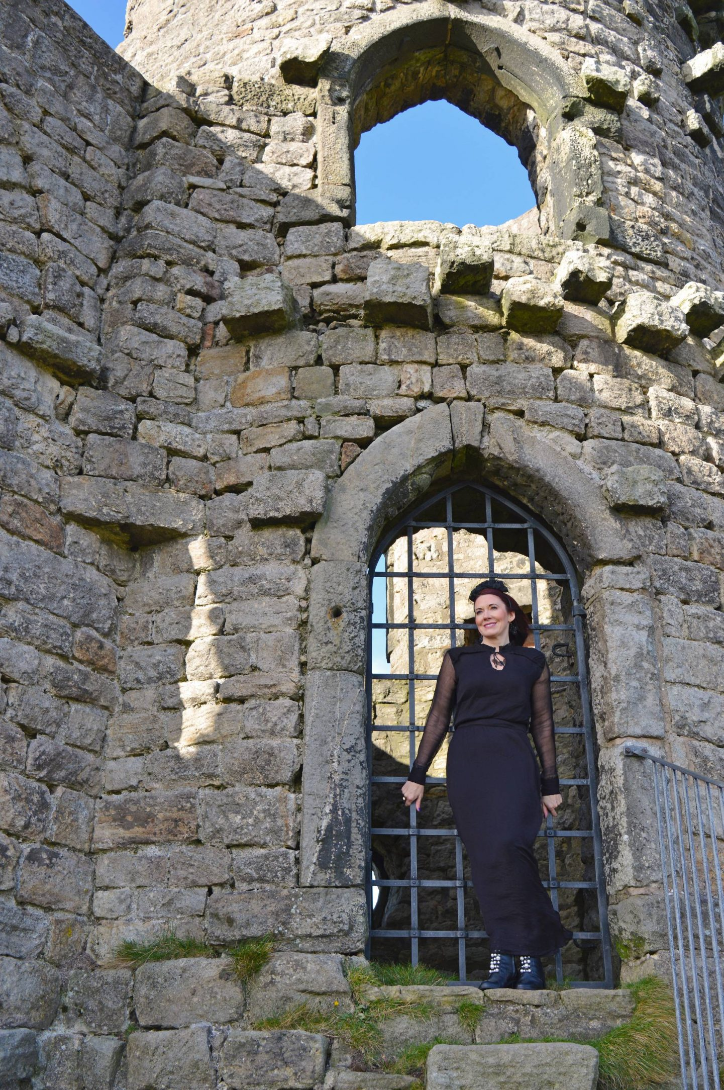 Gothic Romance Style Not Age, Second Female black maxi dress, Mow Cop