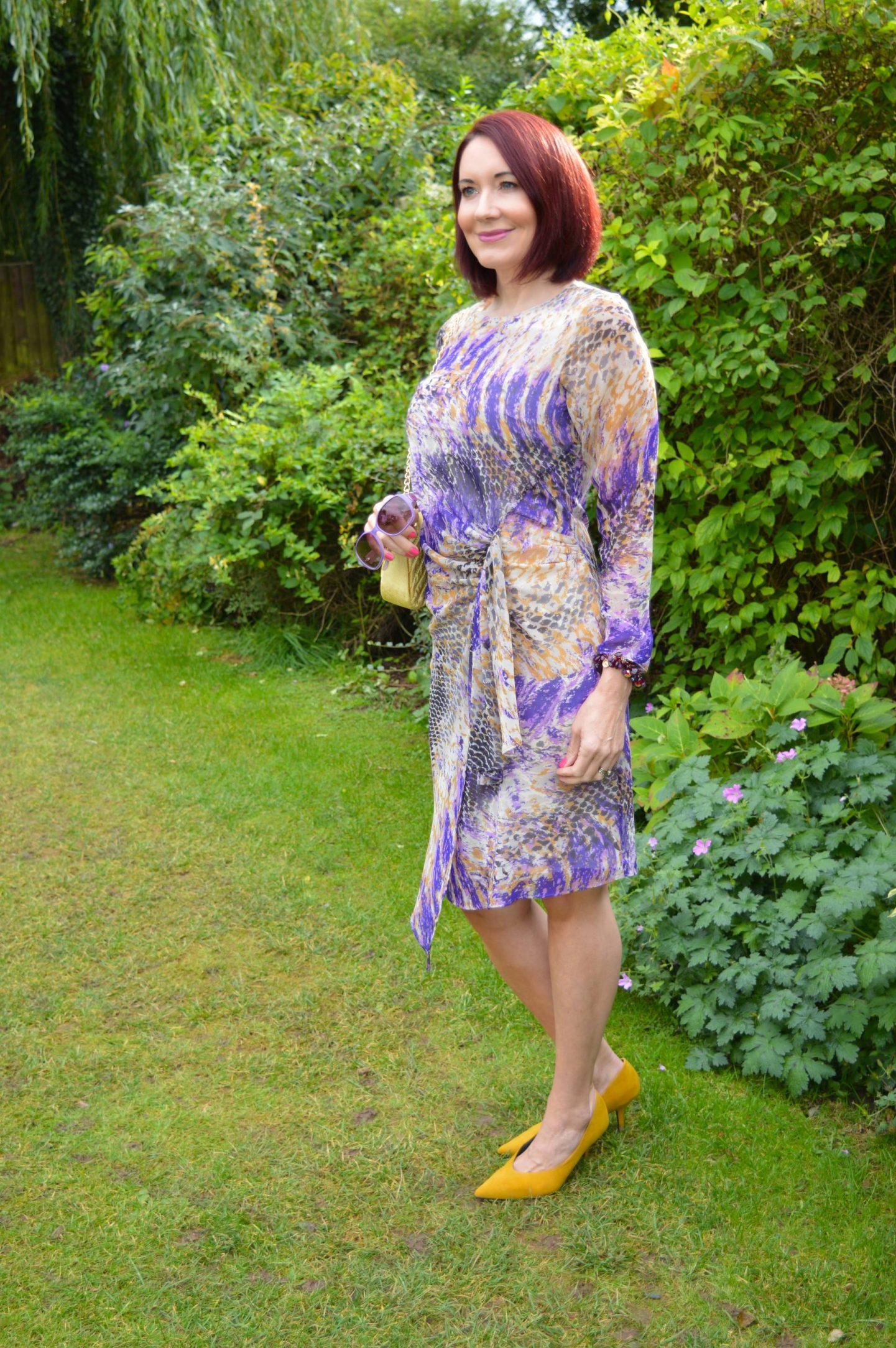 Marks & Spencer Snake Print Chiffon Dress