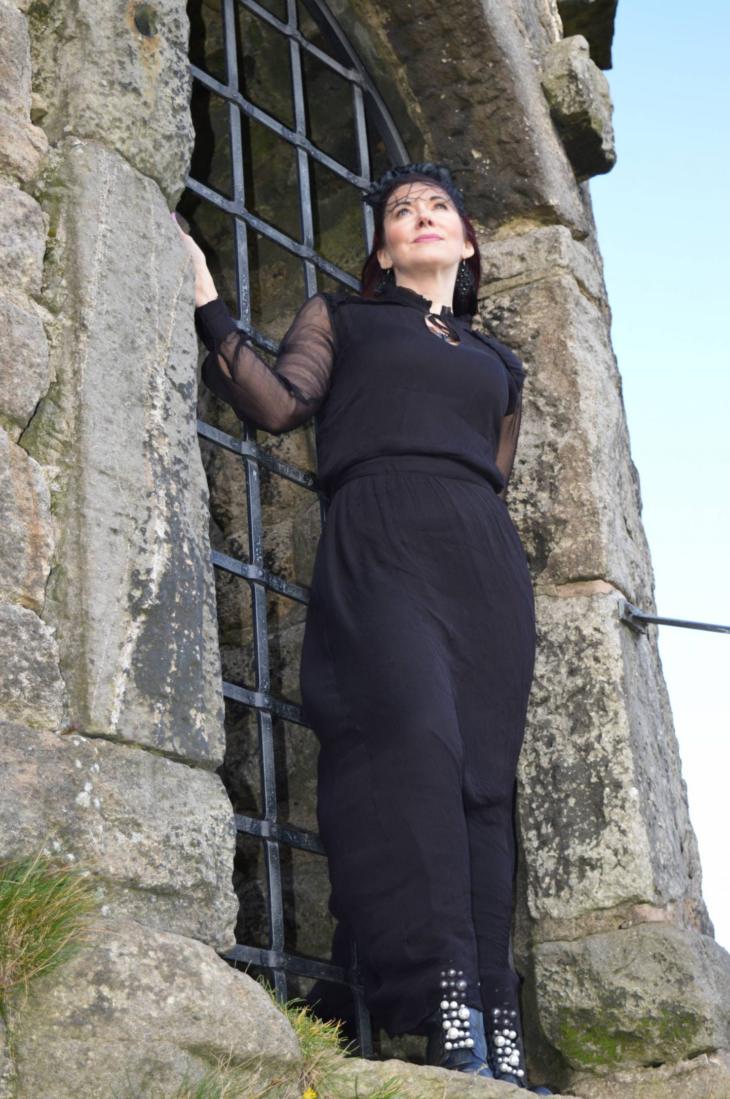 Gothic Romance Style Not Age, Second Female black maxi dress