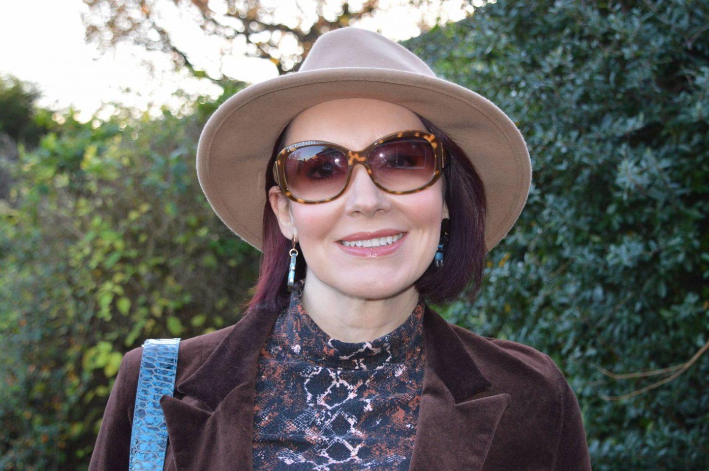 Zara camel fedora, Roberto Cavalli brown sunglasses