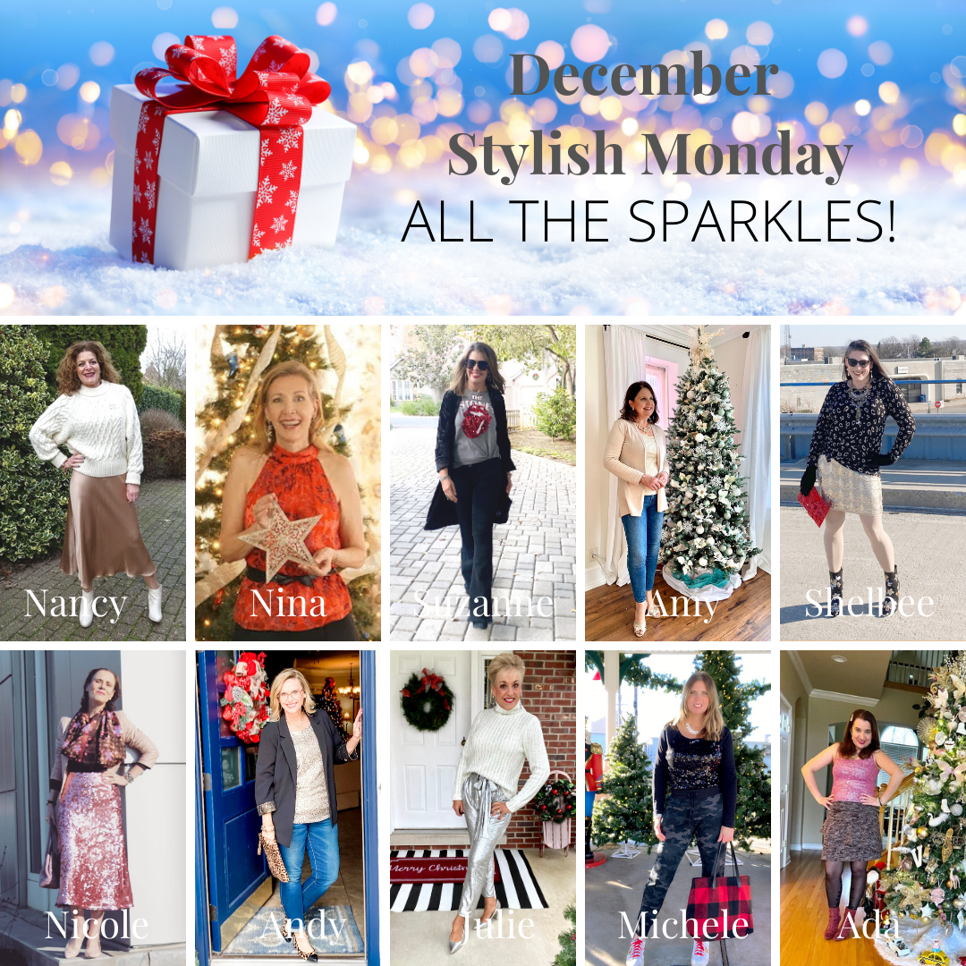 Let's Sparkle and Shine! December's Stylish Monday Link Up collage